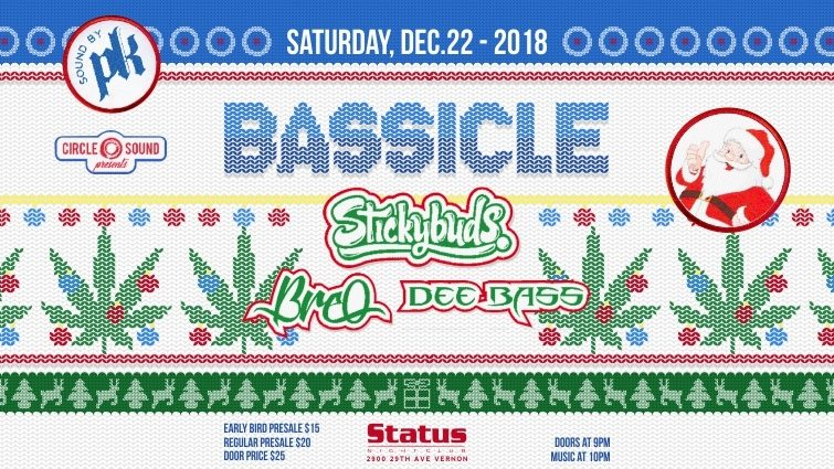 Bassicle - Stickybuds, BreO, Dee Bass